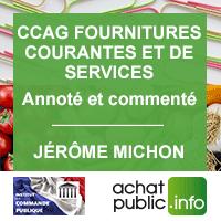 CCAG Fournitures courantes et de services annoté et commenté