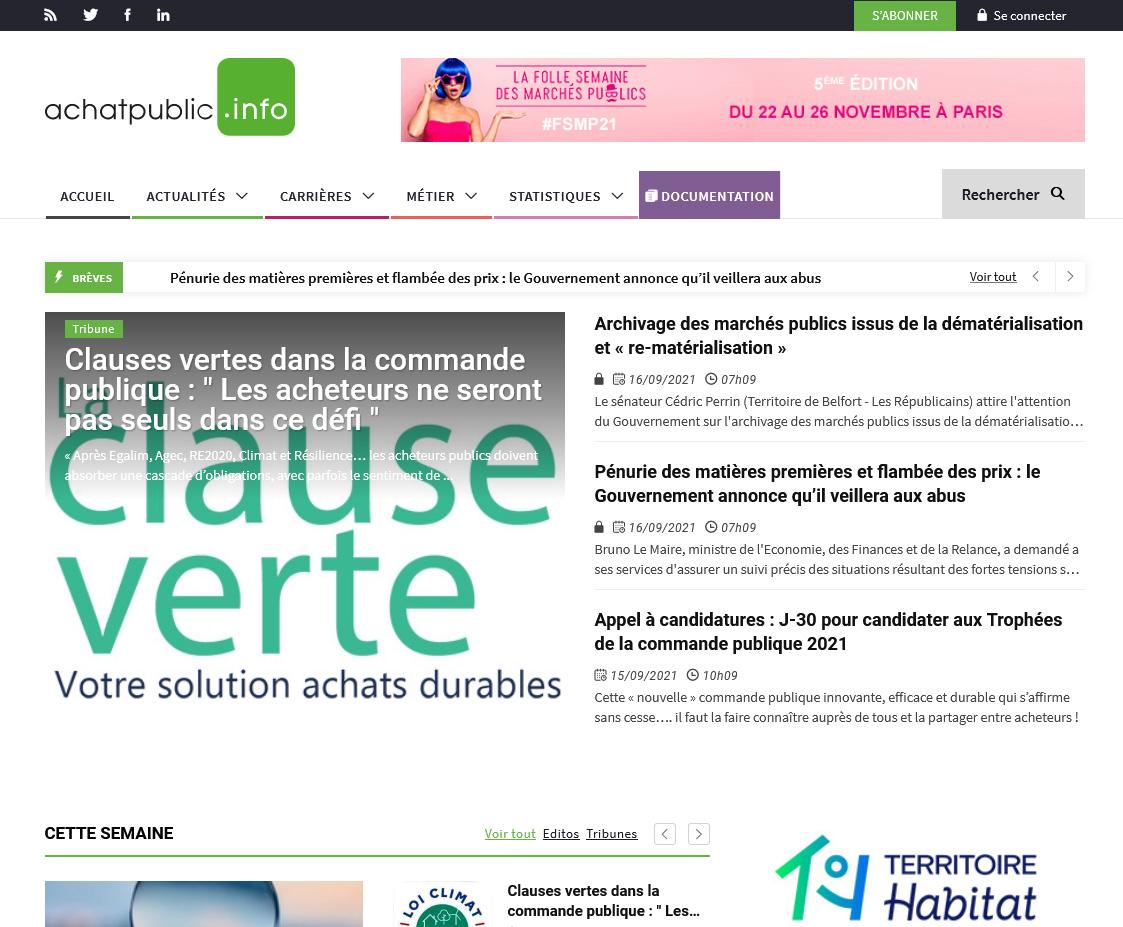 Page d'accueil - achatpublic.info