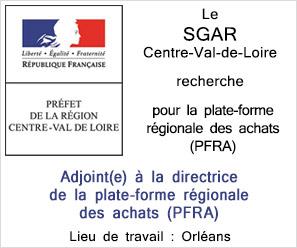 SGAR CENTRE recherche adjointe a la direcrice PFRA