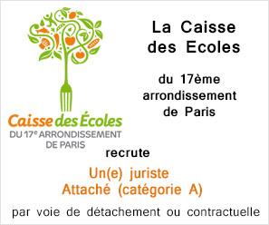 PA Caisse des Ecoles du 17ème arrondissement de Paris
