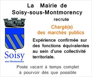 La Mairie de Soisy-sous-Montmorency recrute