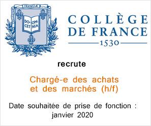 Le Collège de France recrute