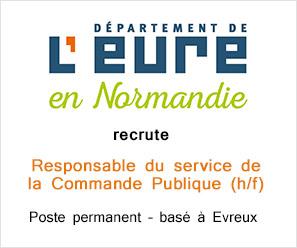 Département de l'Eure recrute Responsable du service de la Commande Publique