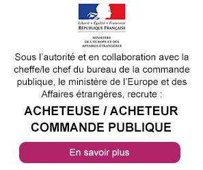 Acheteuse/acheteur commande publique - Ministère de l'Europe et des Affaires étrangères