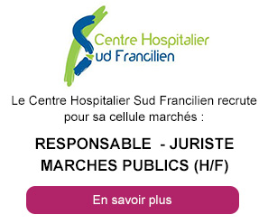 Responsable - Jursite marchés publics (h/f) -  Centre Hospitalier Sud Francilien