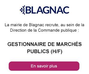 Gestionnaire de marchés publics (h/f) -  Mairie Blagnac