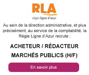 La Régie Ligne d'Azur recrutre un acheteur / rédacteur marchés publics (h/f)