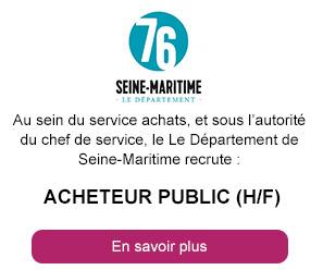 Acheteur Public (h/f) -  Département de la Seine-Maritime