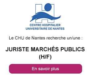 Le CHU de Nantes recherche un juriste marchés publics H/F