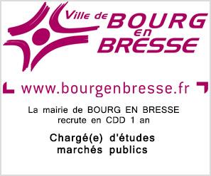 Mairie de Bourg en Bresse recrute Chargé(e) d'études marchés publics