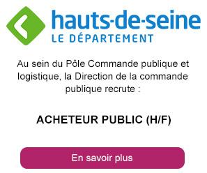 Acheteur public (h/f) - Département Hauts-de-Seine
