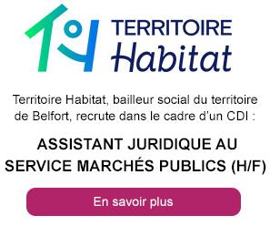 Assistant(e) juridique au service marchés publics (h/f)  - Territoire Habitat